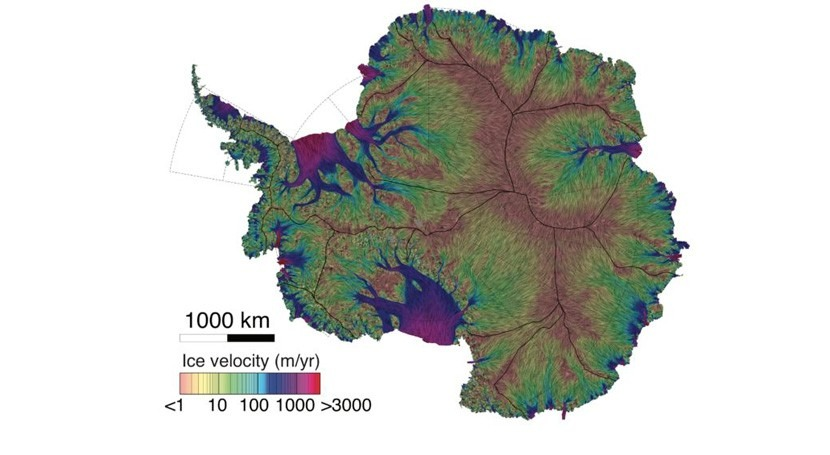 Flowing Antarctic ice mapped 10 times more accurately