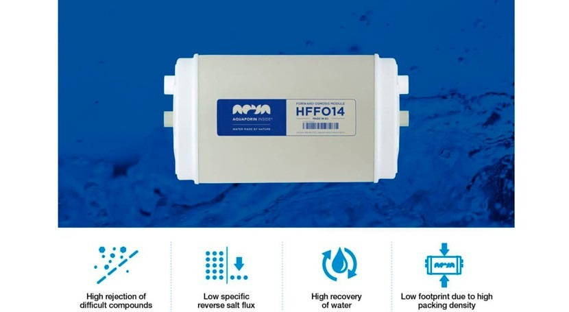 Aquaporin launches their forward osmosis module HFFO14
