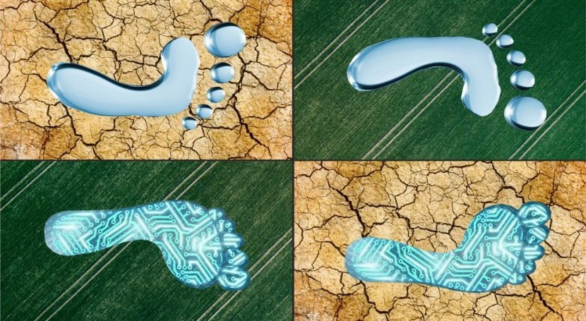 From water footprint to digital footprint