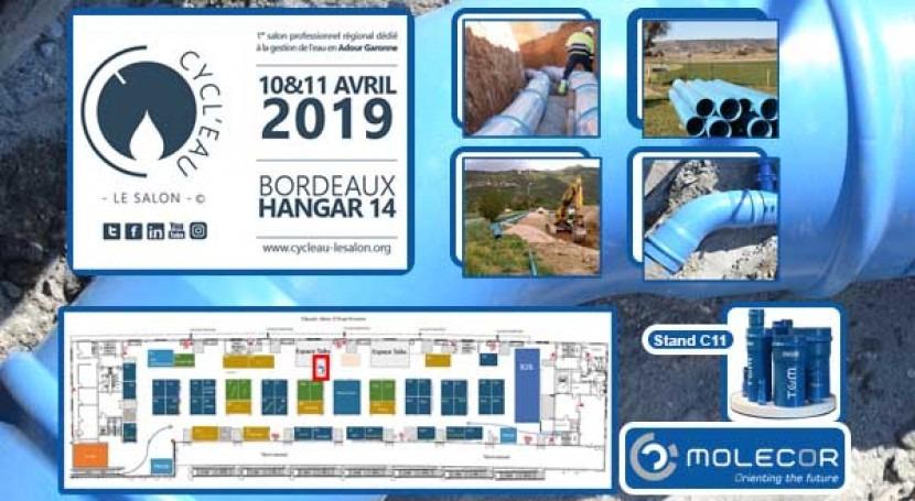 "Molecor will be present at the ""Cycl'eau Bordeaux 2019"" next 10 -11 April"