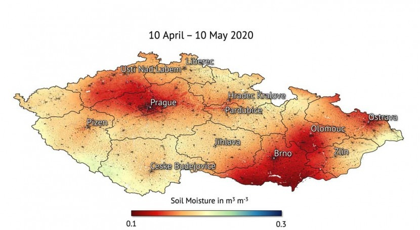 Czech Republic drought visible from space