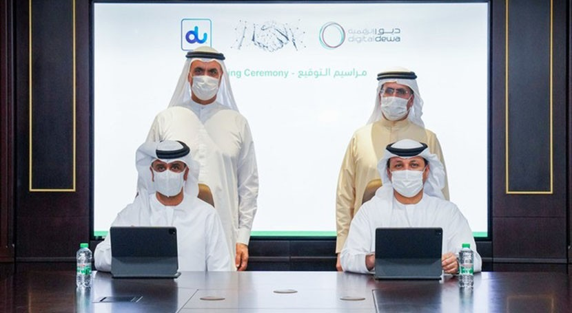 DEWA and du sign strategic partnership to drive digital transformation