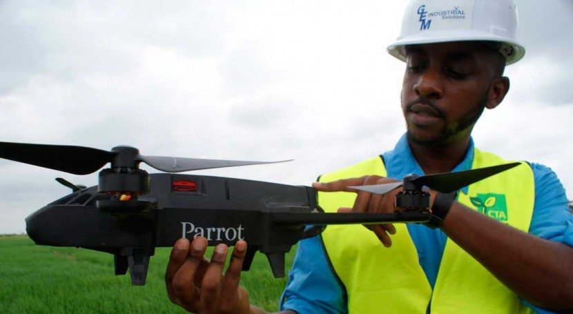 Drones help Ghana's farmers ward off birds - and drought risks