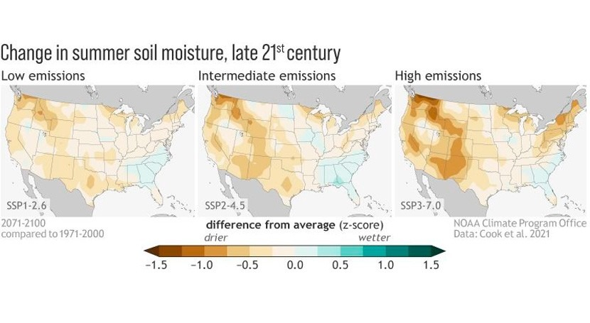 Western US faces future of prolonged drought even with stringent emissions control
