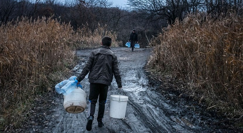 Millions of people risk being cut off from safe water as hostilities escalate in Eastern Ukraine