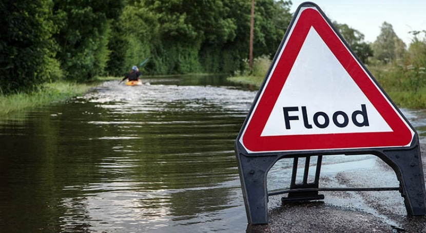 Climate change increases extreme rainfall and the chance of floods