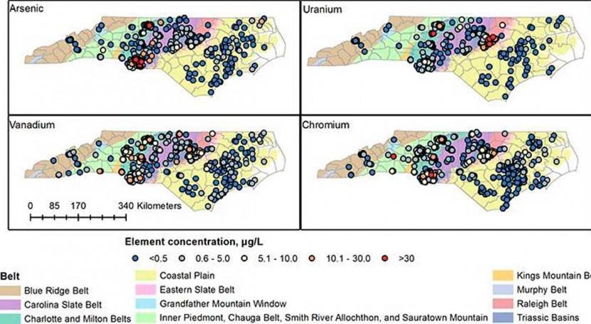 Co-occurring contaminants may increase North Carolina groundwater risks