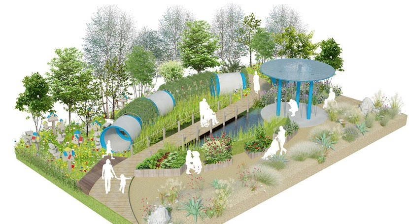 Climate change-resilient garden designed for flourishing future