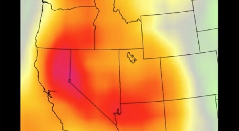 NASA tracks heat wave over US southwest