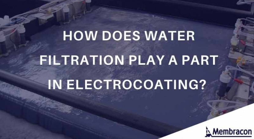 How water filtration plays part in electrocoating