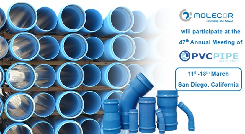 Molecor will participate in the 47th annual meeting of the PVC Pipe Association Uni-Bell