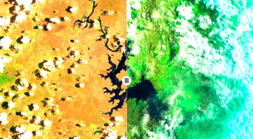 'It is quite startling': 4 photos from space that show Australia before and after the recent rain
