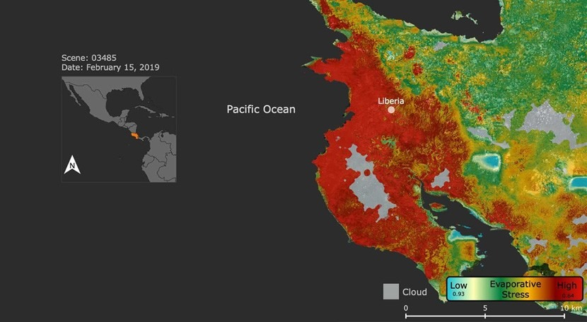 NASA Gauges plant stress in Costa Rican drought