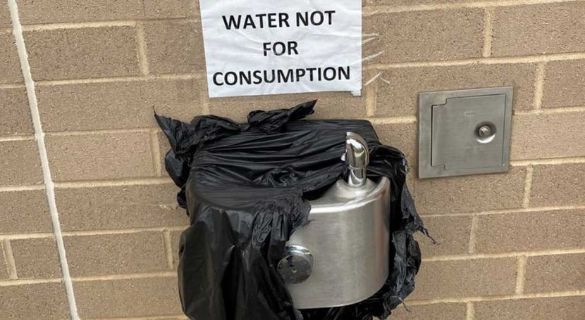 Harmful bacteria in school's water systems, reminding all reopening buildings to check pipes