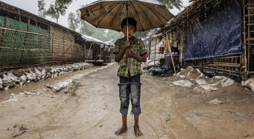 Rohingya refugees in Cox's Bazar at risk from flooding and landslides as monsoon rains continue