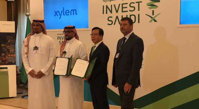 Xylem signs MoU with SAGIA worth US$50 million to develop localized water products in Saudi Arabia