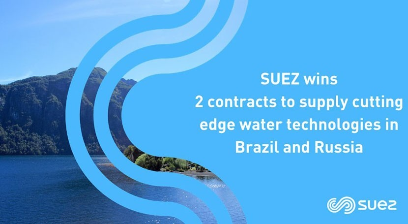 SUEZ wins two new contracts to supply cutting edge water treatment technologies in Brazil & Russia